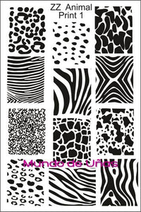 ZZ ANIMAL PRINT 1 Stamping plate