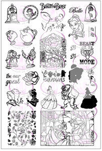 BEAUTY AND THE BEAST Stamping plate