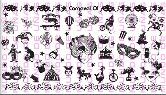 CARNAVAL 01 stamping plate