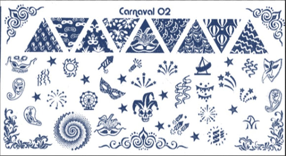 CARNAVAL 2 stamping plate
