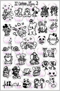 ZZ CARTOON  LOVE 2 Stamping plate