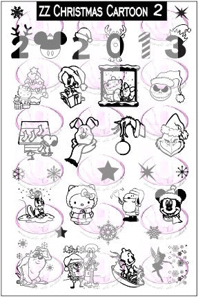 ZZ Christmas Cartoon 2 stamping plate