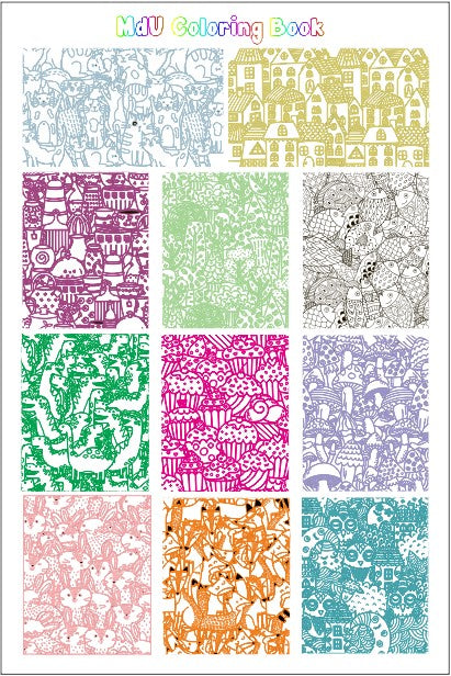 MdU COLORING BOOK stamping plate