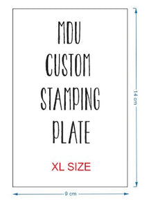 CUSTOM stamping plate - XL SIZE