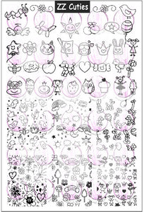 ZZ CUTIES Stamping plate