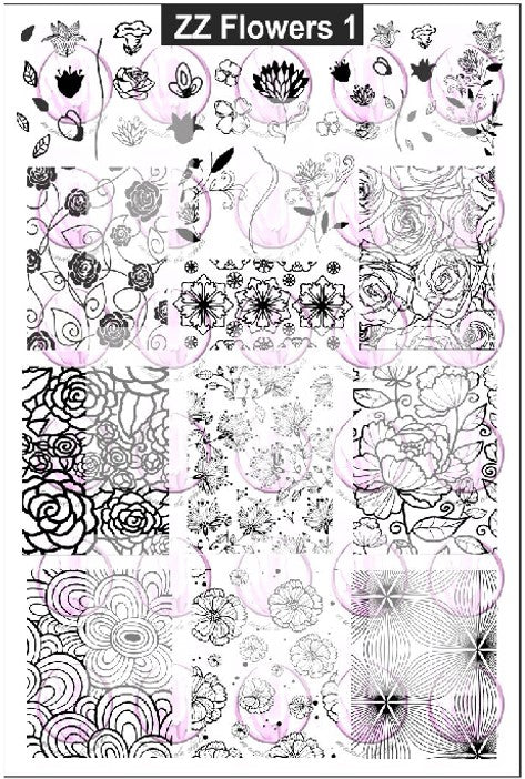 ZZ FLOWERS 1 Stamping plate