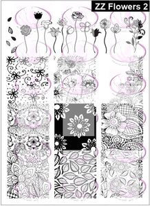 ZZ FLOWERS 2 Stamping plate