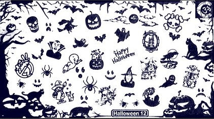 Halloween 12 stamping plate