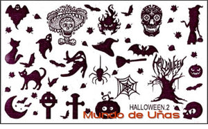 Halloween 2 B stamping plate