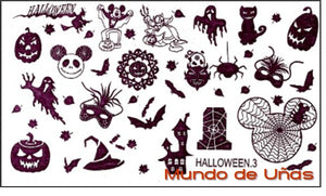 Halloween 3 stamping plate