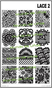LACE 2 stamping plate