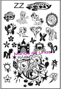 LITTLE PONY (PONYS) stamping plate