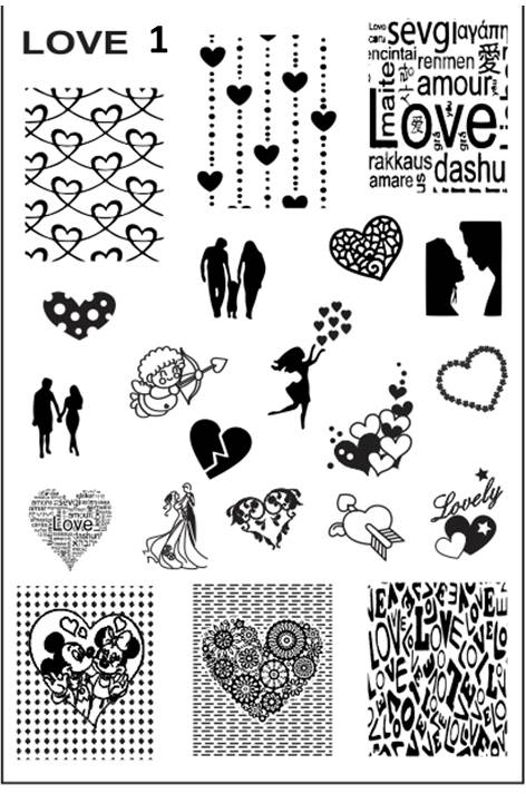 LOVE 1 - 67 Stamping plate