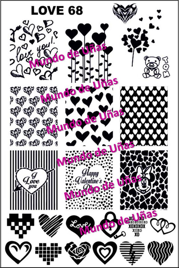 LOVE 3 - 68 Stamping plate