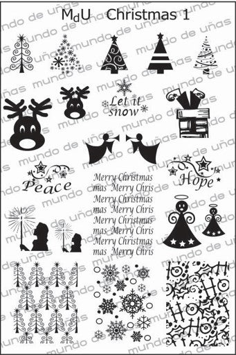 MdU CRISTMAS 1 Stamping plate