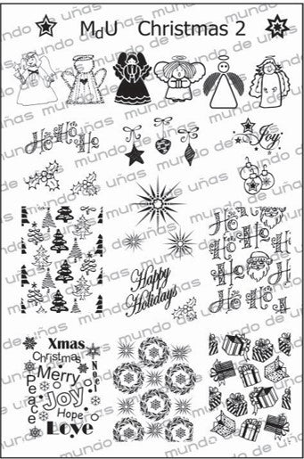 MdU CRISTMAS 2 Stamping plate