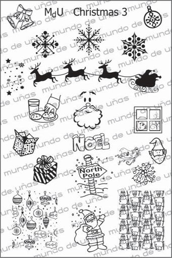 MdU CRISTMAS 3 Stamping plate