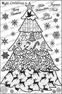 MdU CRISTMAS 4 Stamping plate