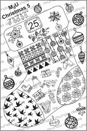 MdU CRISTMAS 5 Stamping plate
