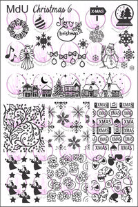 MdU CRISTMAS 6 Stamping plate