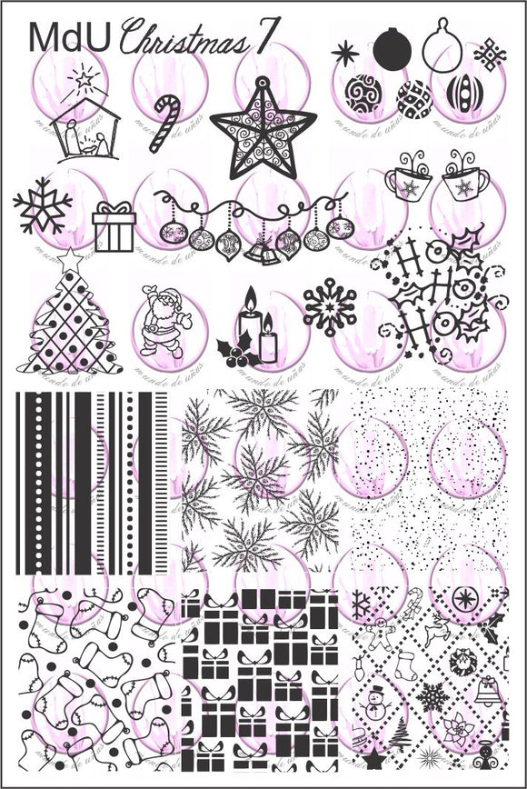 MdU CRISTMAS 7 Stamping plate