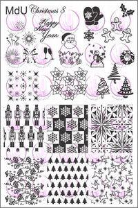 MdU CRISTMAS 8 Stamping plate