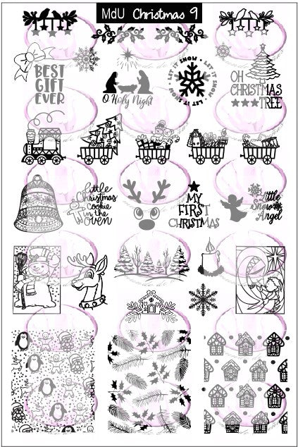 MdU Christmas 9 stamping plate