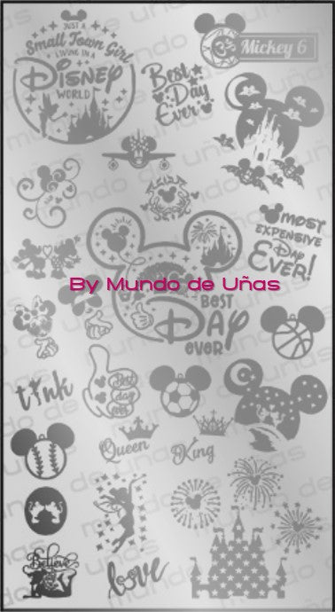MICKEY 6 stamping plate