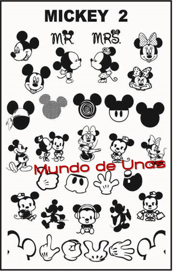 ZZ MICKEY 2 stamping plate