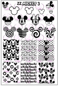 ZZ MICKEY 3 stamping plate