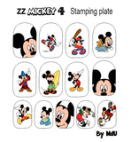 ZZ MICKEY 4 stamping plate