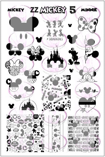 ZZ MICKEY 5 stamping plate