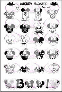 ZZ MICKEY Halloween stamping plate