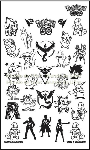 POKEMON GO stamping plate