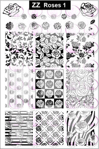 ZZ ROSES 1 Stamping plate