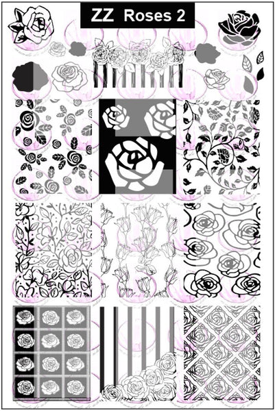 ZZ ROSES 2 Stamping plate