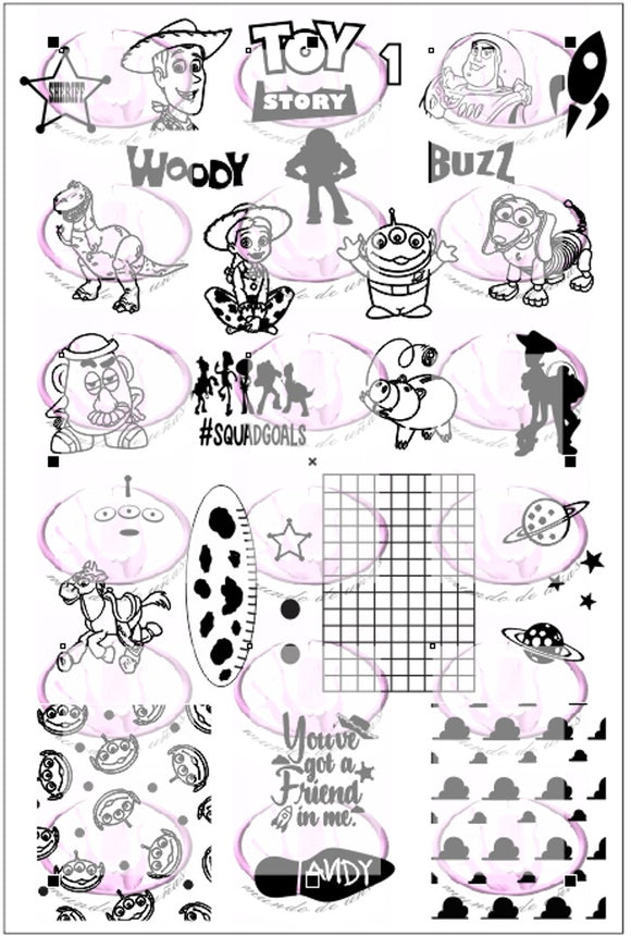 TOY STORY 1 Stamping plate