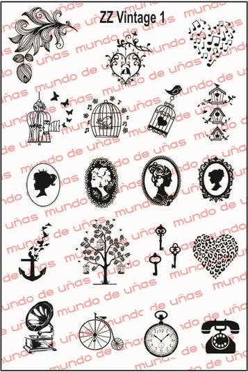 ZZ VINTAGE Stamping plate