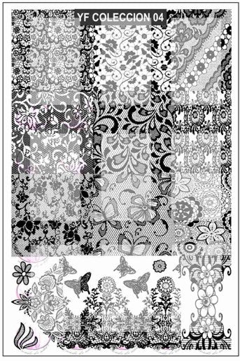 YF COLLECTION 4 stamping plate