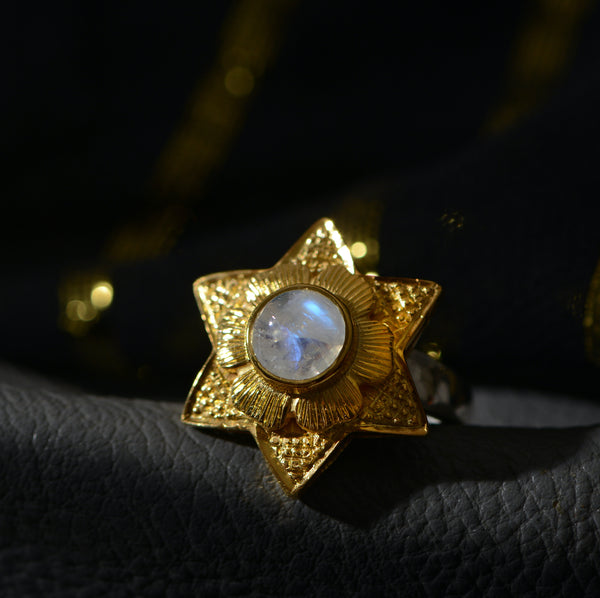 Lyra Moonstone Ring