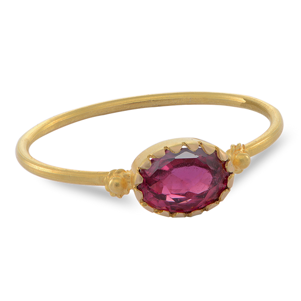 Grecian Gold Red Spinel Ring