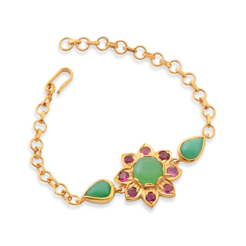 The Nova Chrysoprase Tourmaline Bracelet