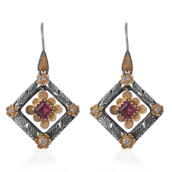 Sophia Tourmaline Diamond Earrings