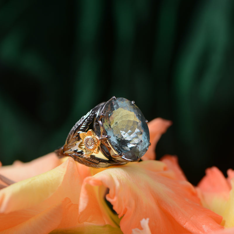 Adore Aquamarine Diamond Ring