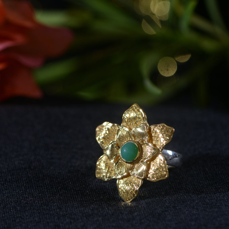 Violetta Chrysoprase Ring