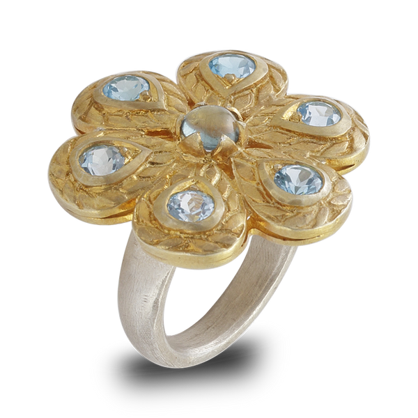 Versaille Blue Topaz Ring