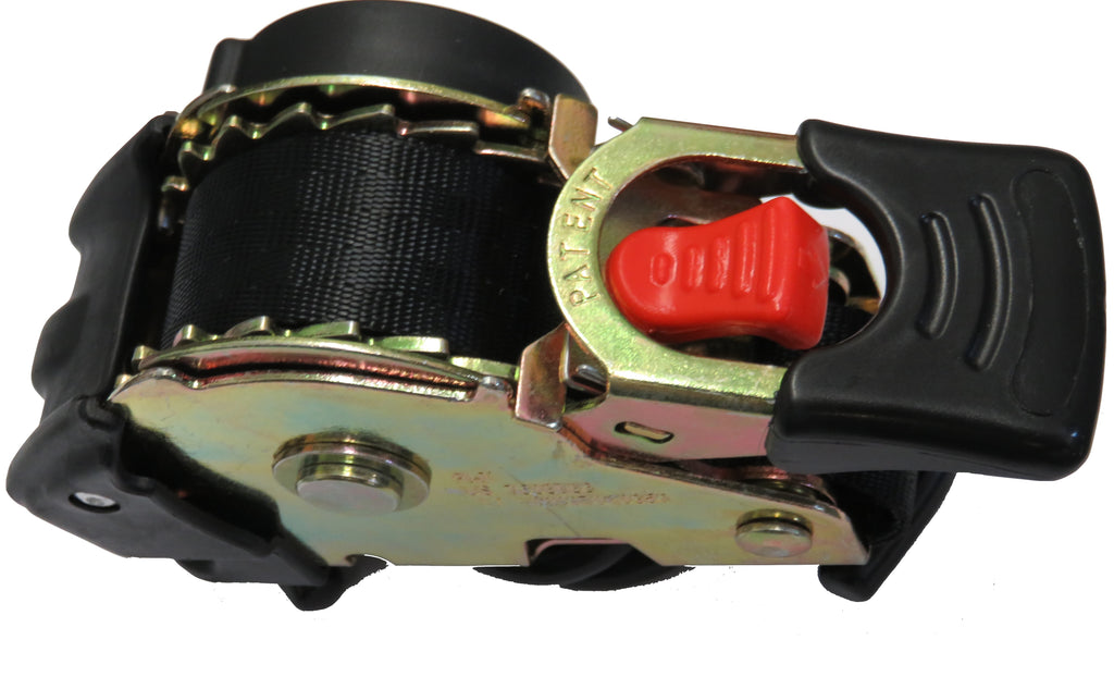 Retractable ratchet strap