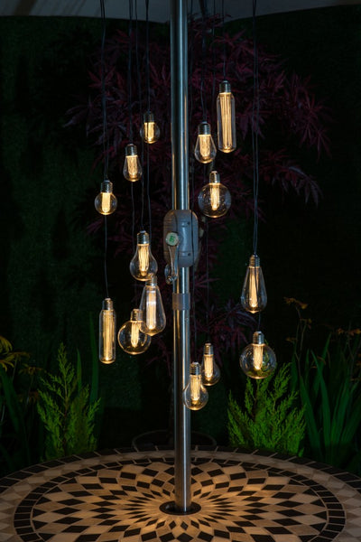 LED Bulb chandelier parasol lights - battery