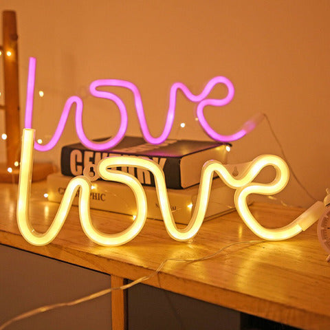 neon love light warm white