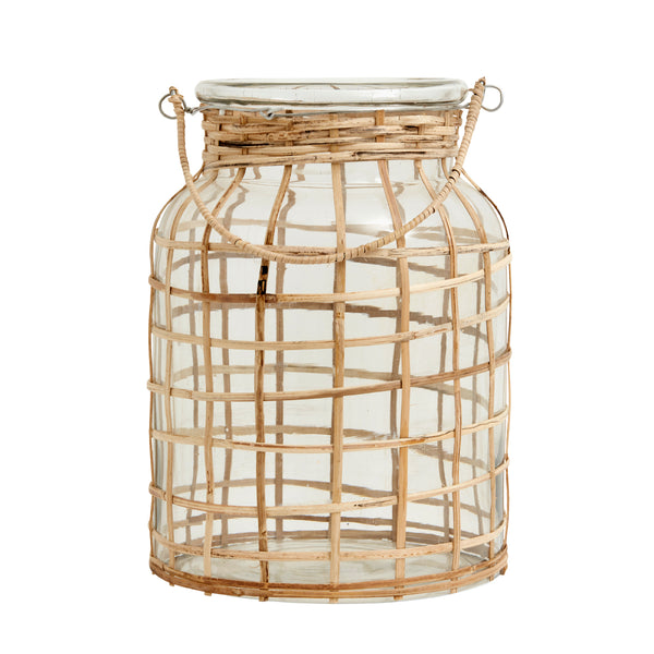 Bamboo candle holder large